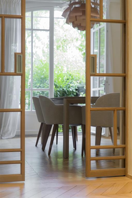 Cloison amovible design for Separation vitree entre cuisine et salon