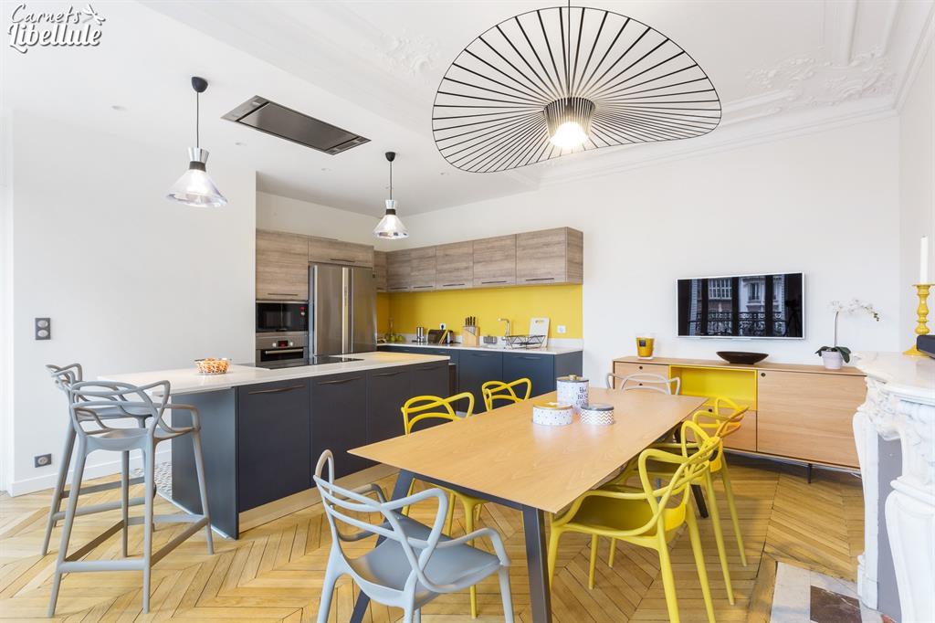 Image Cuisine appartement Haussmannien