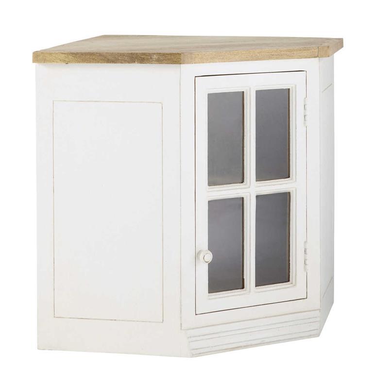 Meuble haut d\'angle vitré de cuisine ouverture droite en ...