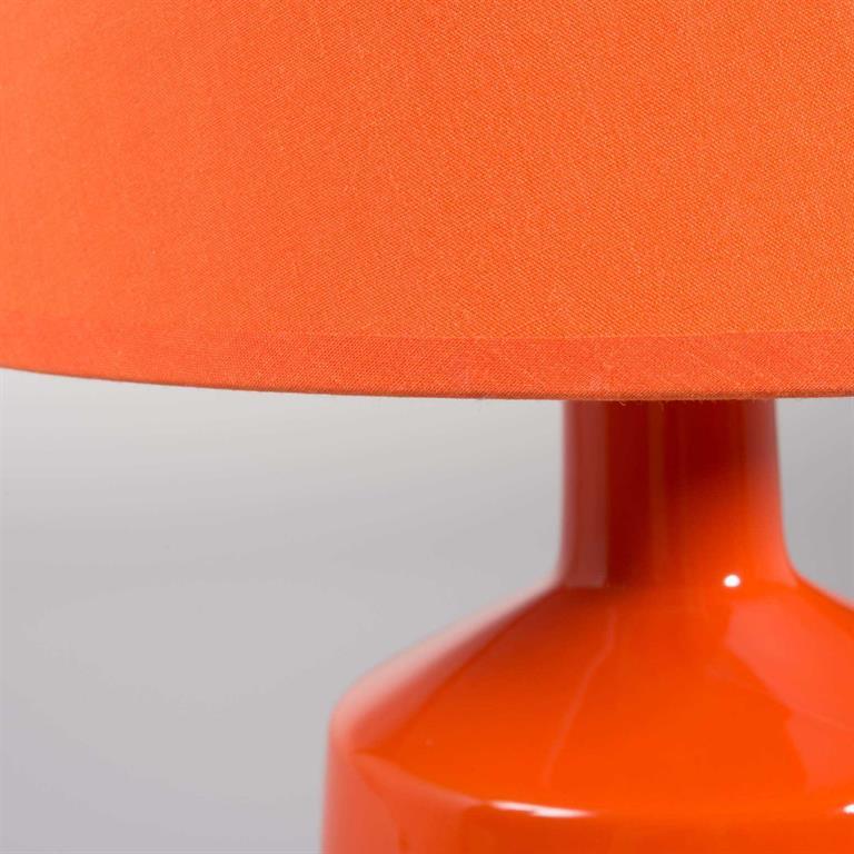 Lampe en céramique orange H 39 cm MADDY