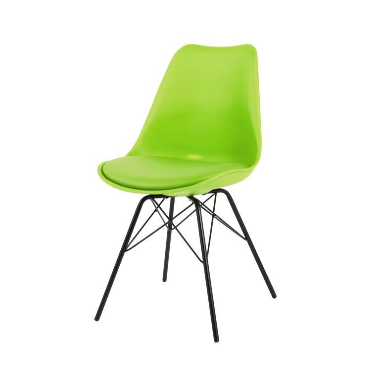 Chaise en polypropylène et métal verte Coventry
