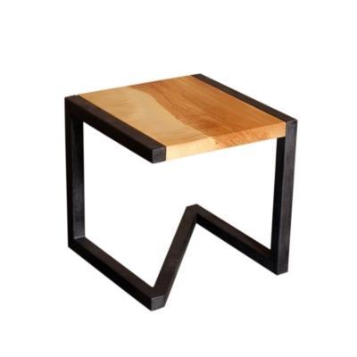 Tabouret design en bois et acier