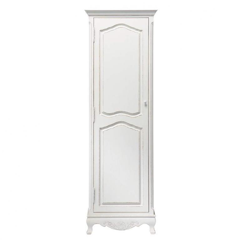 armoire bonnetire en paulownia blanc josphine