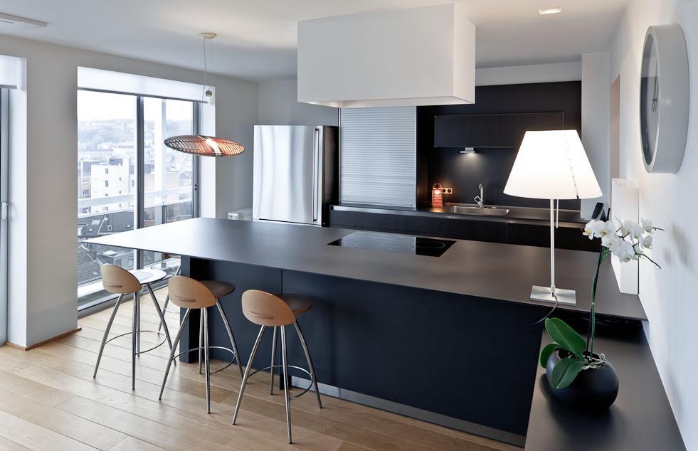 cuisine noir mur noir » Photos de design d\'intérieur et décoration ...
