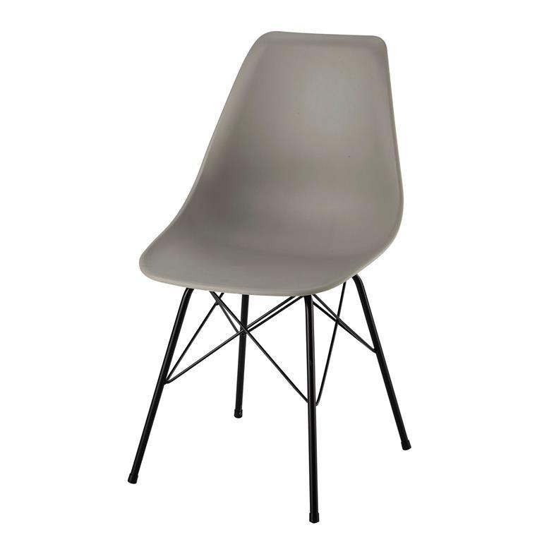 Chaise en polypropylène et métal grise Cardiff