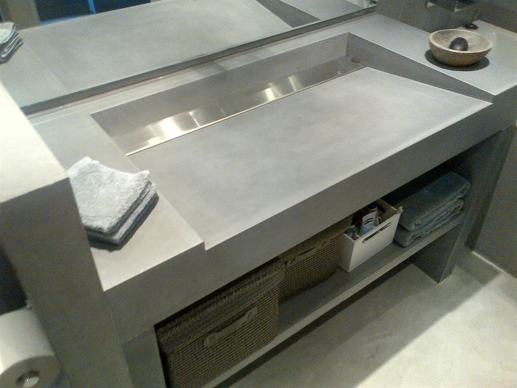 Vasques b ton inox bross - Vasque en beton ...