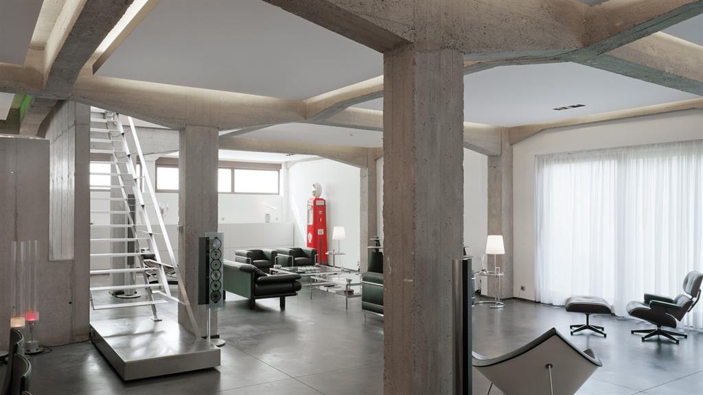 Pi ce vivre pur e structure b ton apparente aai intra muros sprl - Architecture a vivre ...