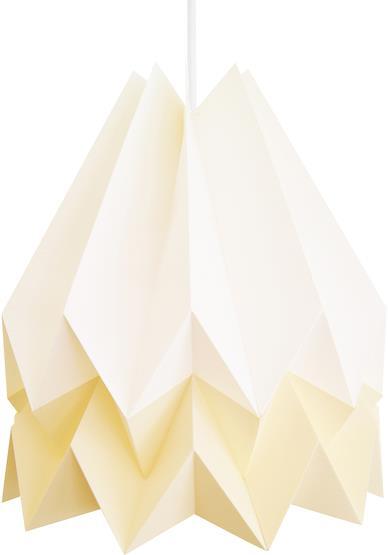 Abat-jour blanc et jaune en papier - Orikomi