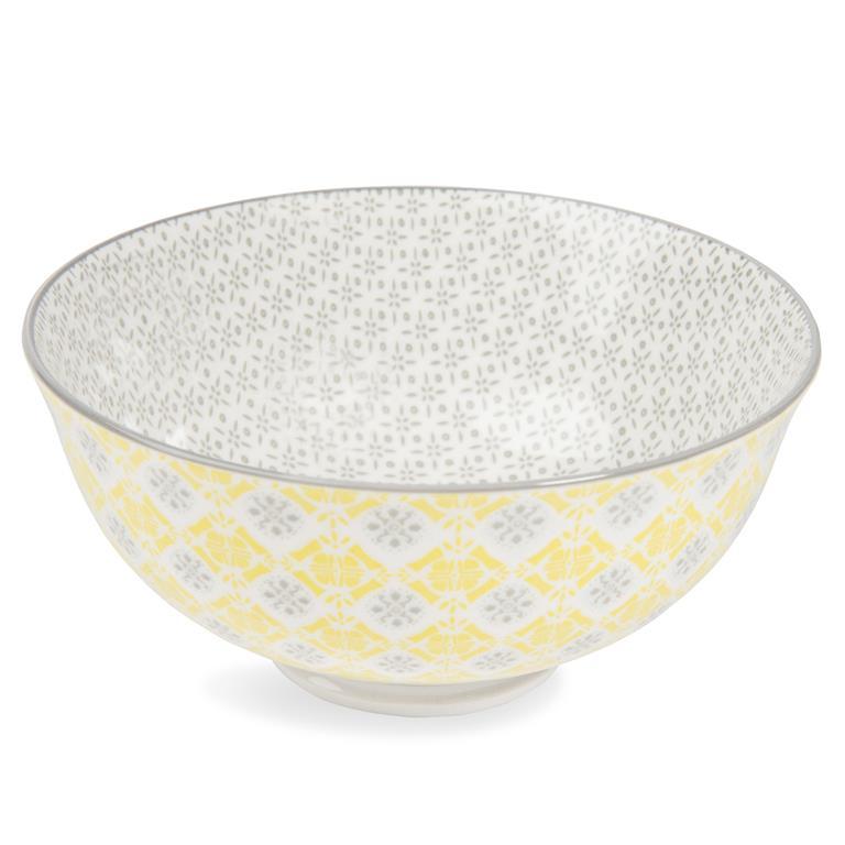 Bols en porcelaine jaunes/gris YELLOW