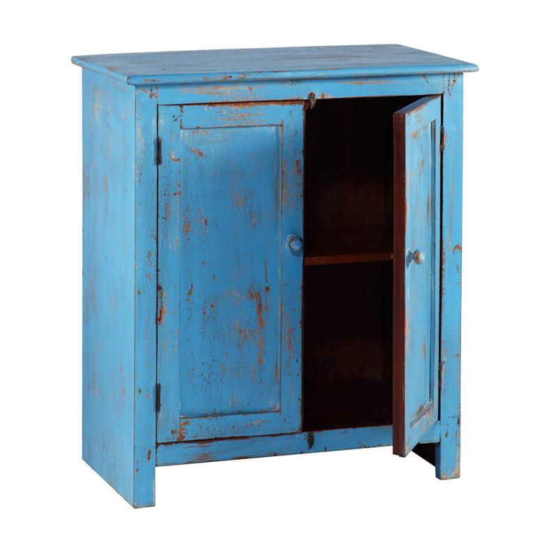 Buffet en manguier bleu turquoise L 73 cm Avignon