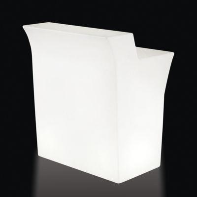 bar lumineux jumbo l 90 cm slide blanc en mati re plastique. Black Bedroom Furniture Sets. Home Design Ideas
