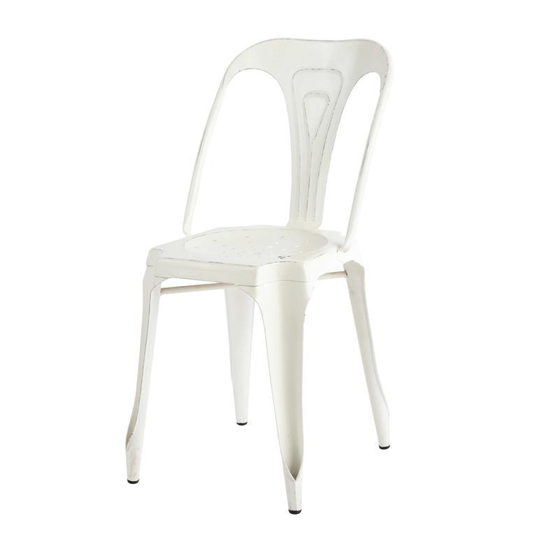 Chaise indus en métal blanche Multipl's