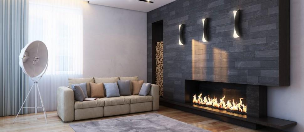 chemin e contemporaine en pierres anthracites ose i conception. Black Bedroom Furniture Sets. Home Design Ideas