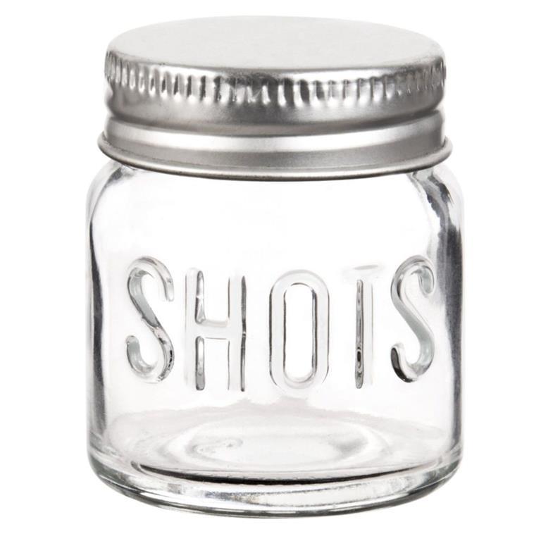 Mini bocal en verre et métal