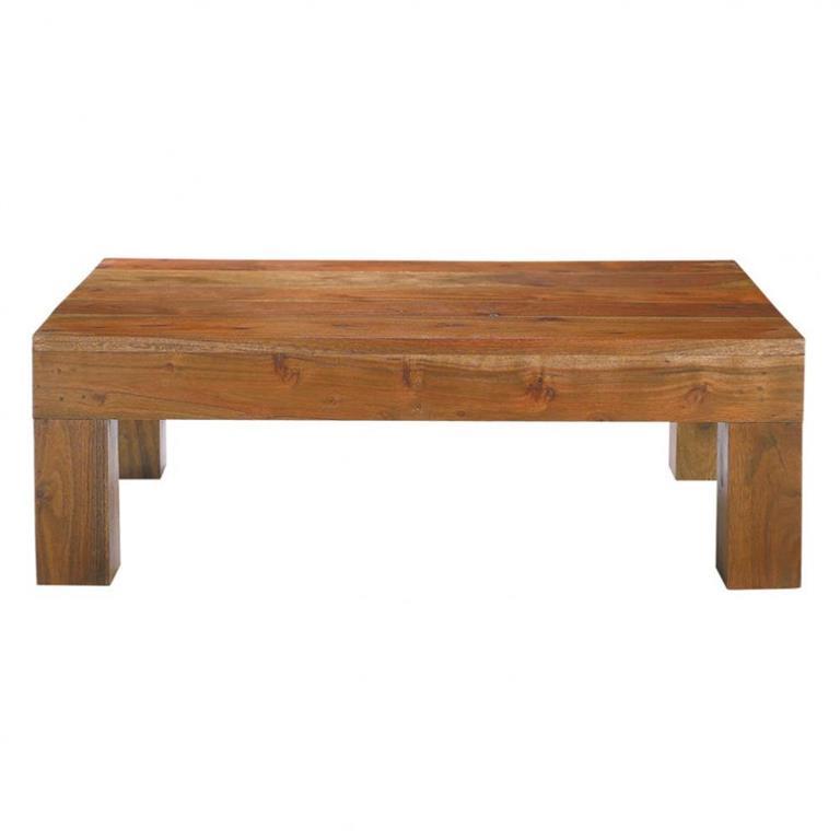 Table basse en acacia massif L 90 cm Ceylan