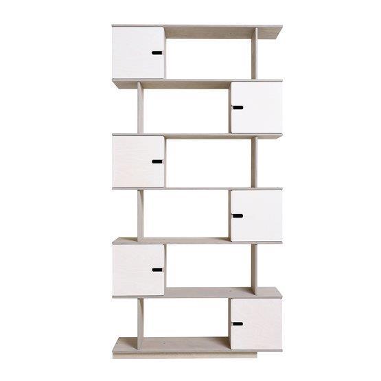 Etagère 6 niveaux blanche et gris clair Pix - Radis