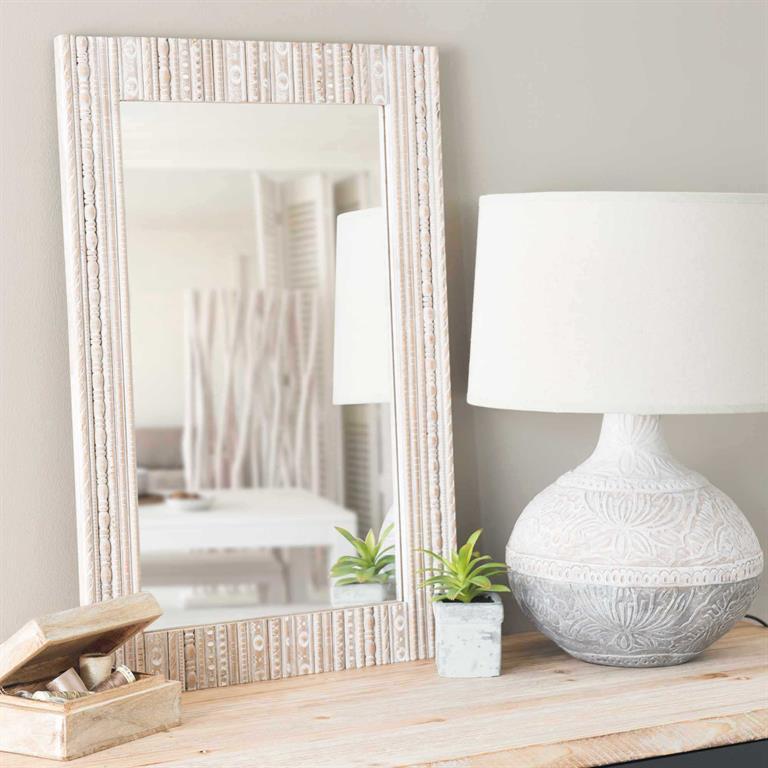 Miroir en bois H 62 cm DARANI