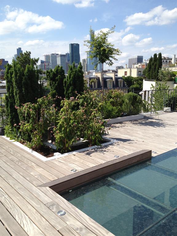 Image Aménagement de la terrasse et des jardinières edl design