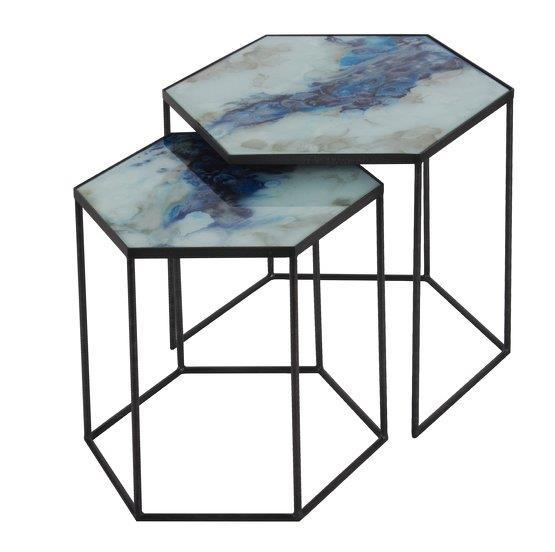 2 Tables basses Cobalt Mist Organic - Notre Monde