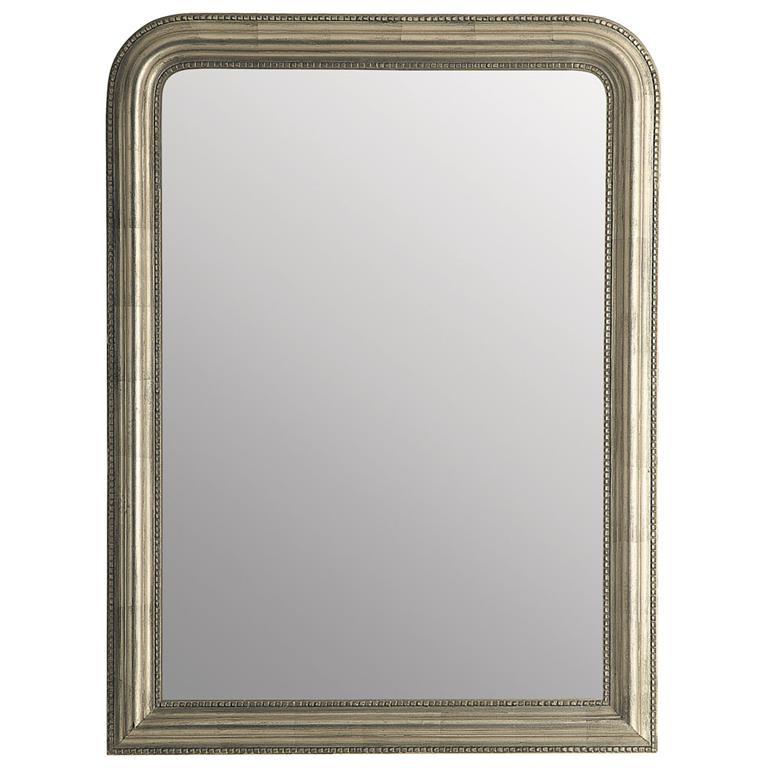 Miroir en paulownia beige doré 90x120