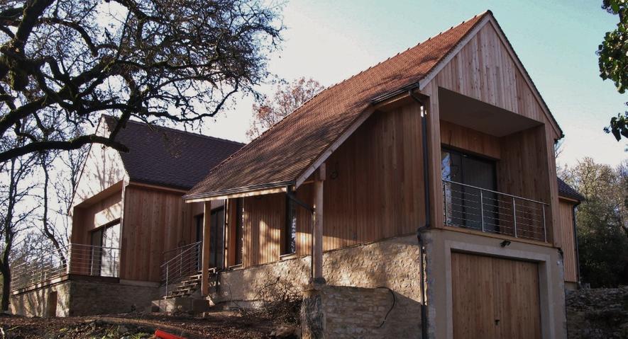 Villa moderne en ossature bois