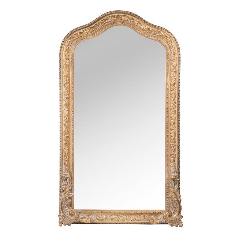 Miroir en bois doré H 90 cm RENAISSANCE