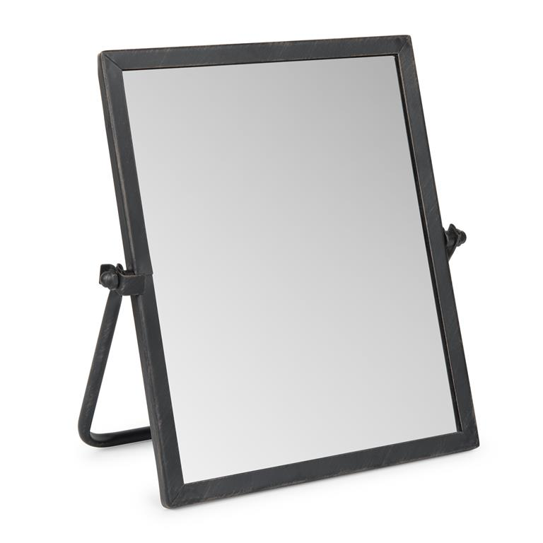 Miroir à poser en métal noir H 26 cm BROOKLINE