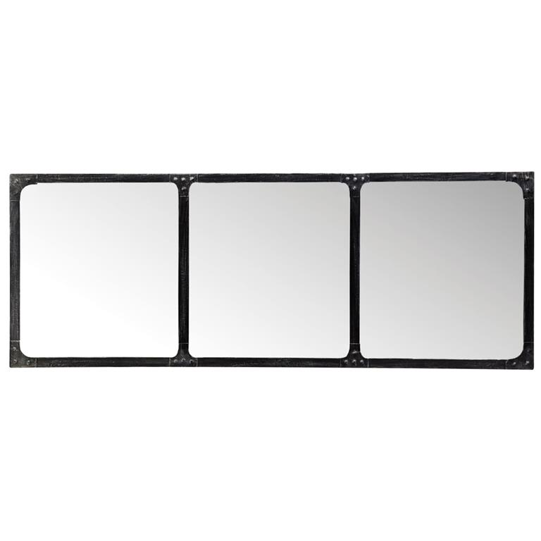 miroir en m tal effet rouille h 120 cm cargo maisons du monde. Black Bedroom Furniture Sets. Home Design Ideas
