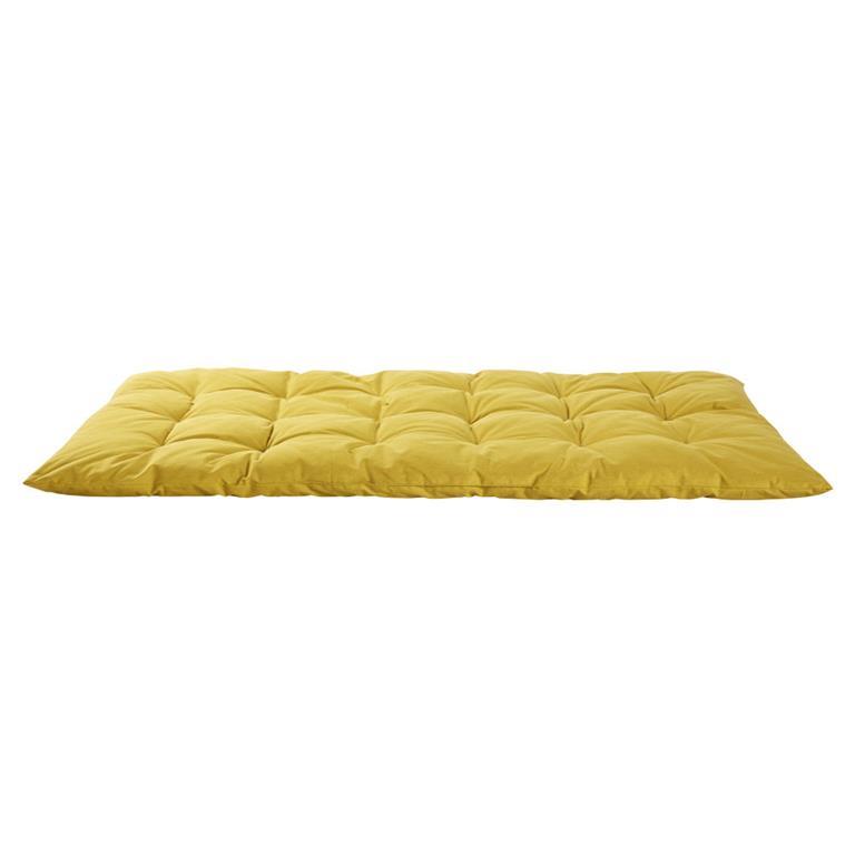 Matelas gaddiposh en coton jaune moutarde 60x120