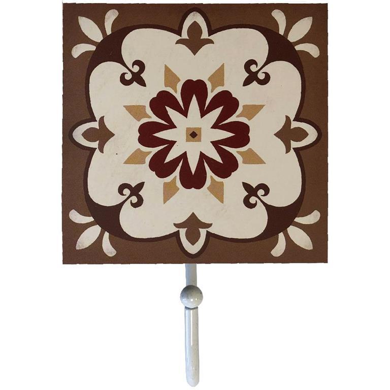Petit porte torchons en bois à suspendre brun H16cm