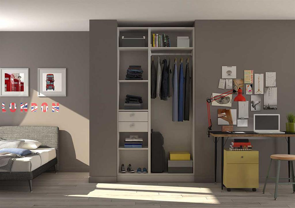 am nagement d 39 un placard d 39 une chambre d 39 adolescent en dressing. Black Bedroom Furniture Sets. Home Design Ideas