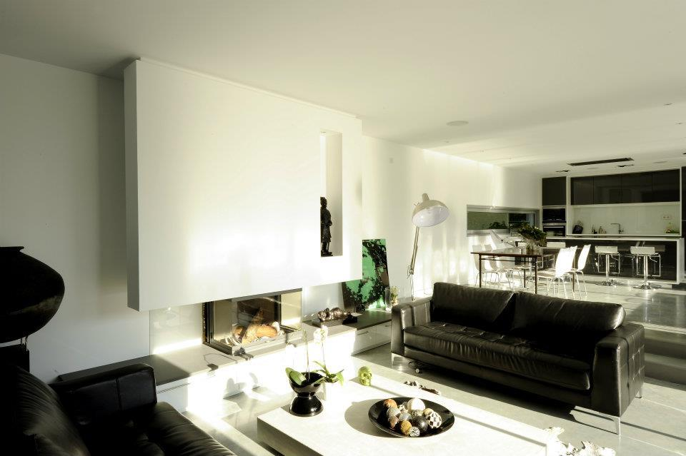 Salon ouvert sur salle manger et cuisine cubik architecture - Cuisine et salon ouvert ...