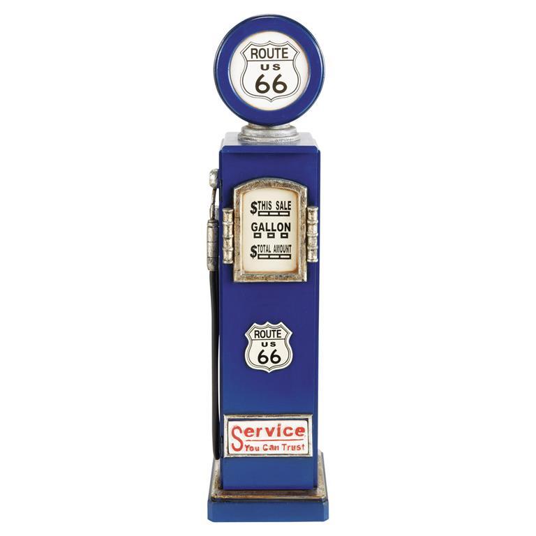Lampe range-CD bleue en métal H 95 cm ROUTE 66