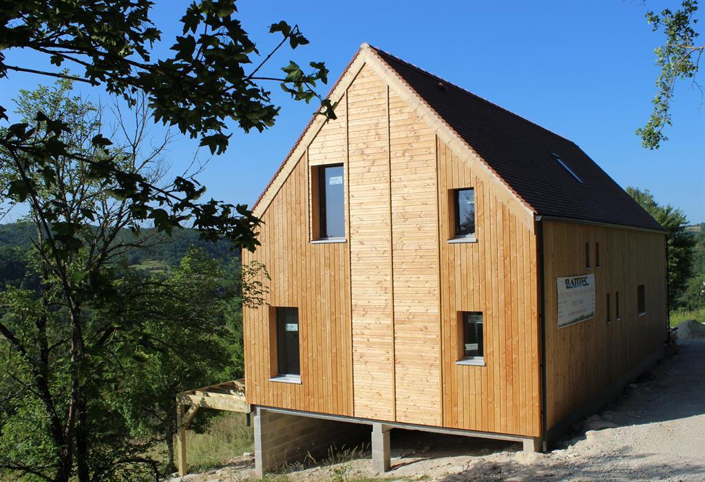 Maison individuelle en ossature bois à étage