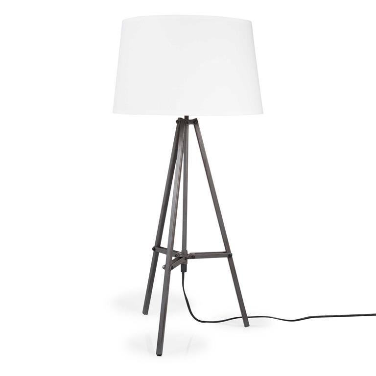 Lampe trépied en bois H 70 cm CARNAC