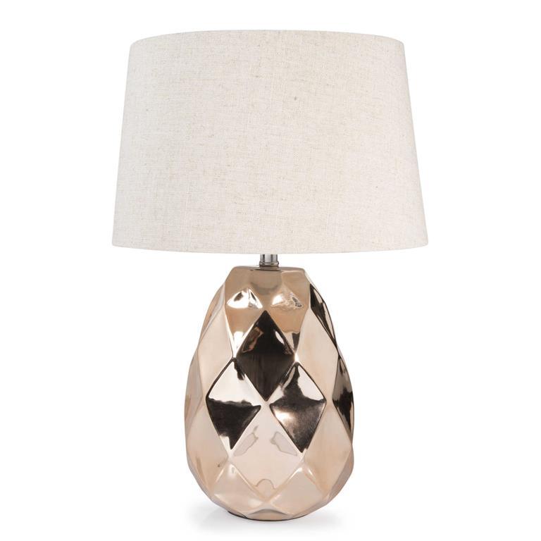 Lampe en céramique cuivré H 43 cm PINEAPPLE COPPER