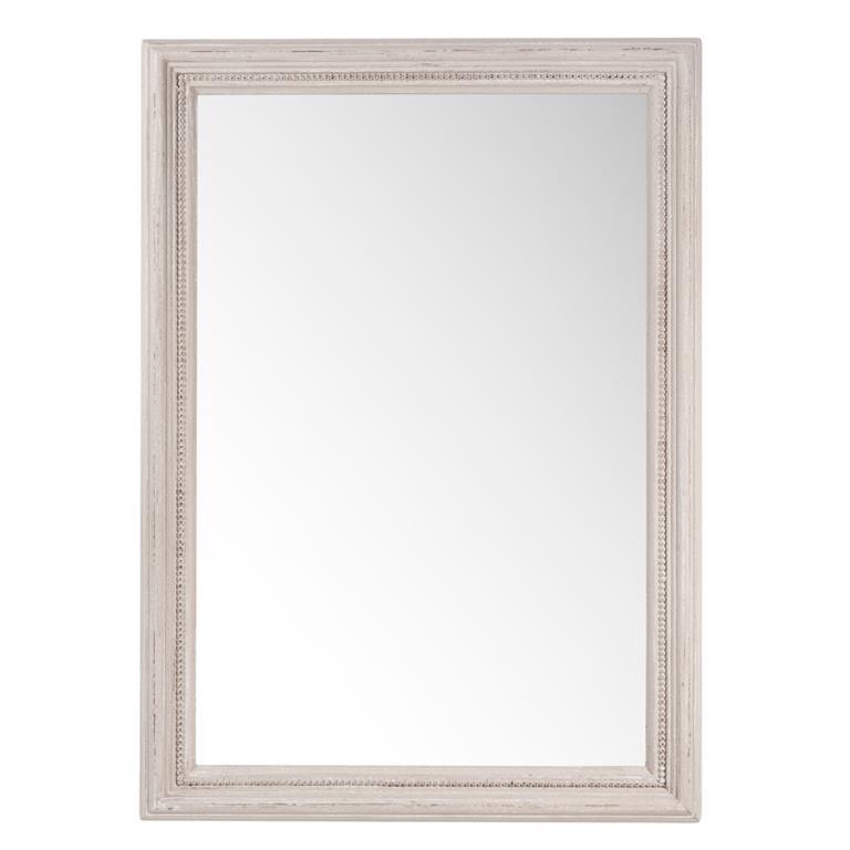 Miroir en bois beige H 70 cm Amandiers