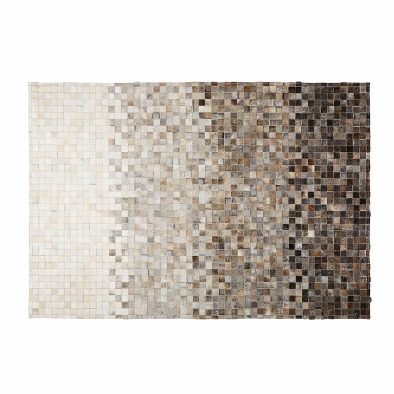 tapis en cuir de vache et laine 160x230 squaru maisons du monde. Black Bedroom Furniture Sets. Home Design Ideas