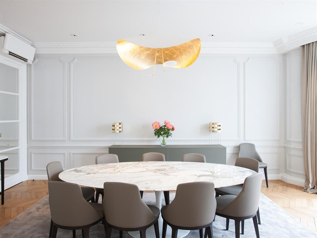 Appartement haussmannien for Idee salle a manger design