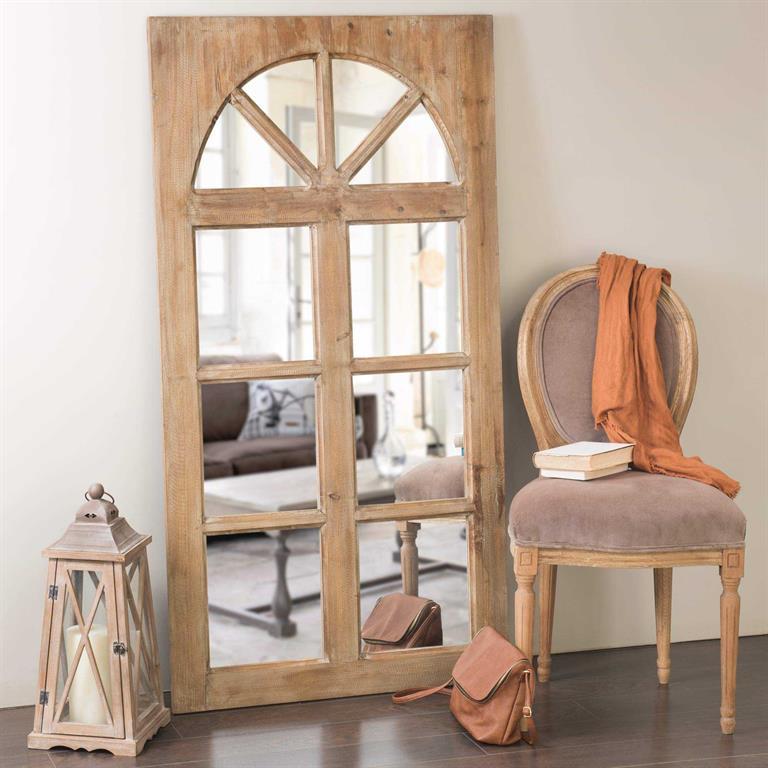 Miroir fenêtre en bois H 150 cm ST REMY