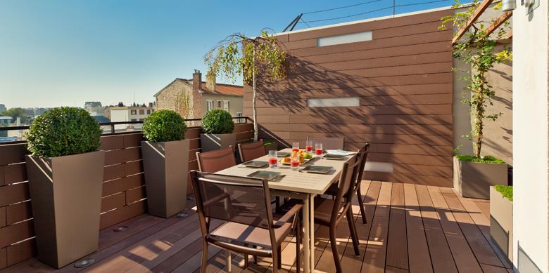 Une terrasse designée par AD CONCEPT GARDENS