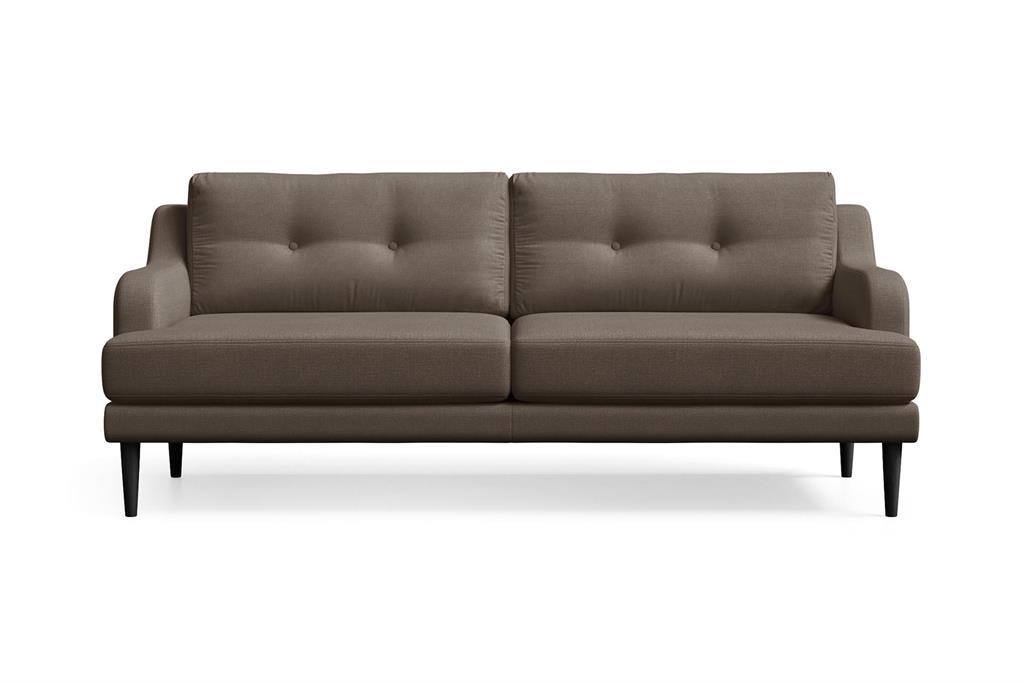 Canapé 3 places toucher lin marron