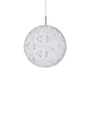Suspension Chanpen Hexagon / Ø 26 cm - Forestier blanc en tissu