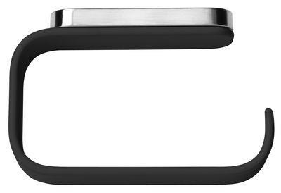 Dérouleur de papier toilette - Menu noir en métal