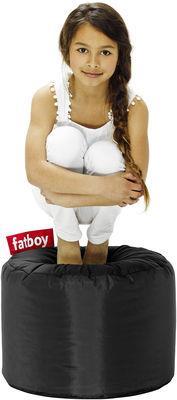 Pouf Point - Fatboy Ø 50 x H 35 cm noir en tissu