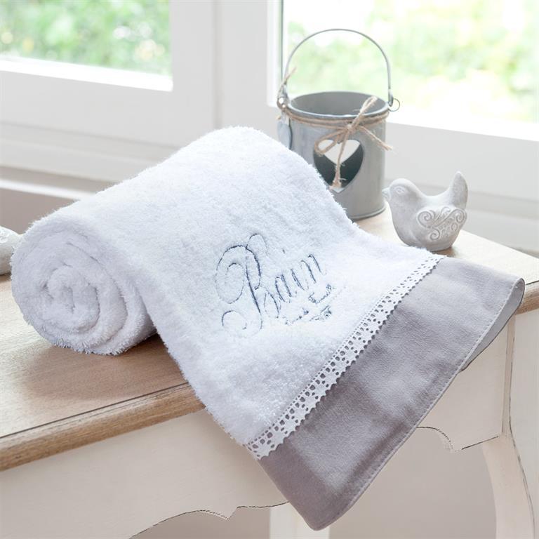 Drap de bain en coton blanche 70x140 BAIN