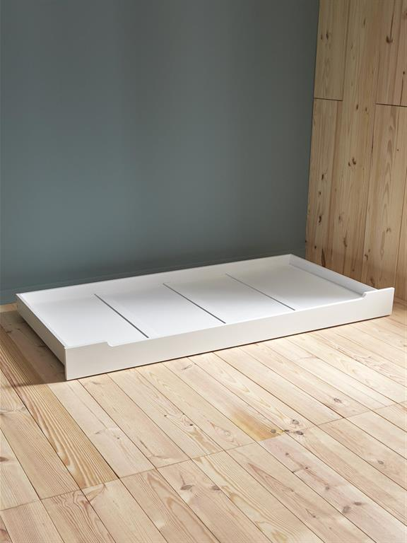 Lit tiroir pour lit banquette blanc