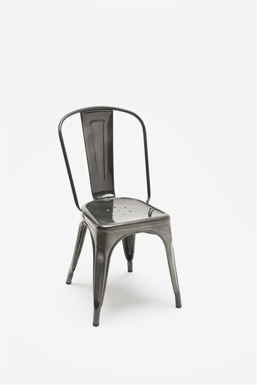 Chaise A gris métallisé