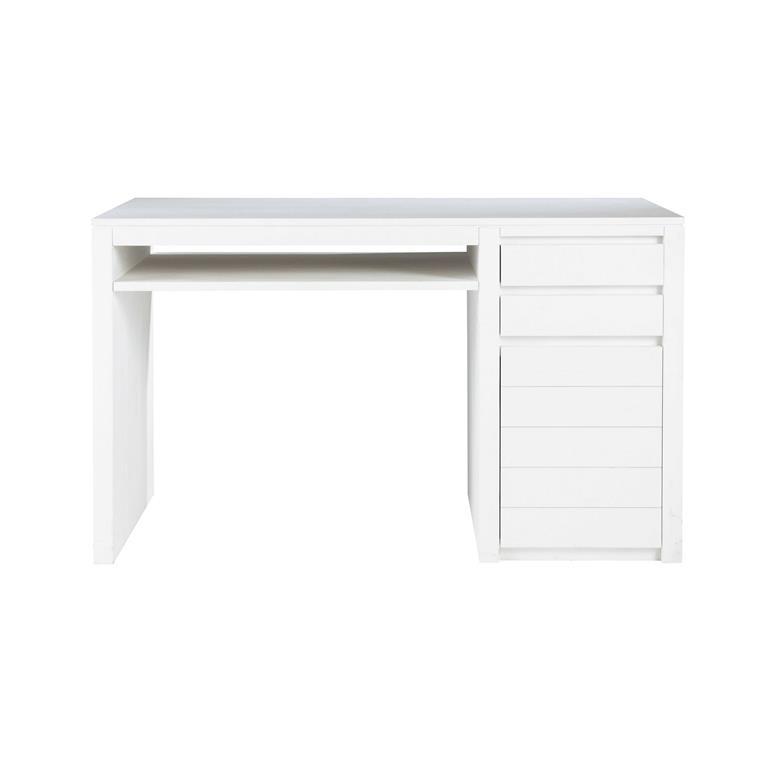 Bureau en pin massif blanc white maisons du monde ref 146762 for Bureau pin massif blanc
