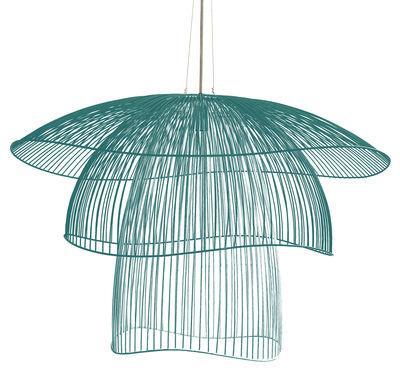 Suspension Papillon Large / Ø 100 cm - Forestier bleu gris en métal